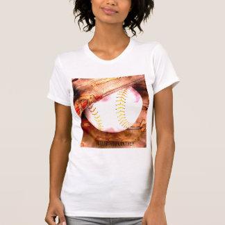 Baseball & Glove Grunge Style Tee Shirt