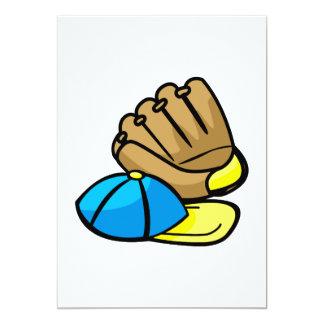 Baseball glove & hat card