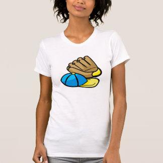Baseball glove & hat tee shirt