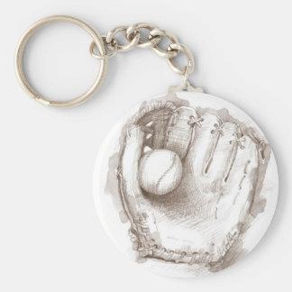 Baseball & Glove - Keychain