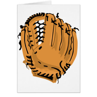 Baseball Glove Note Cards
