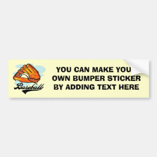 Baseball Glove T-shirts and Gifts Bumper Sticker