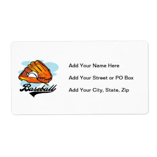 Baseball Glove T-shirts and Gifts Label