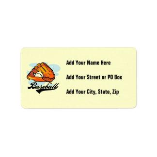 Baseball Glove T-shirts and Gifts Address Label
