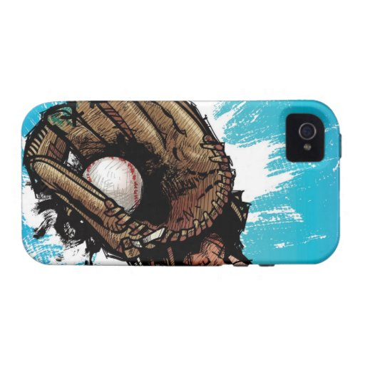 Baseball glove with base ball Case-Mate iPhone 4 cases