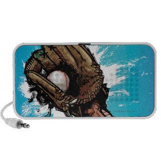 Baseball glove with base ball mp3 speakers