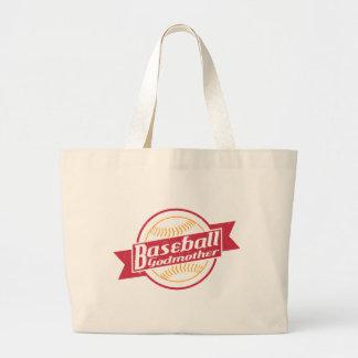 Baseball Godmother Large Tote Bag