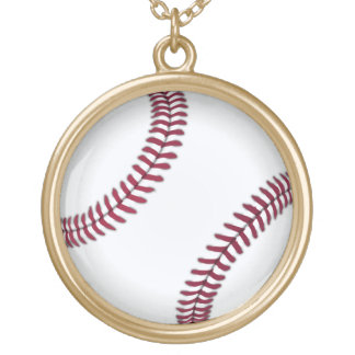 Baseball Gold Plated Necklace