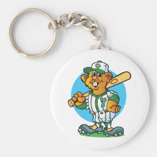 Baseball Gopher Keychain