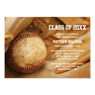 Baseball Graduation Announcement Invitations