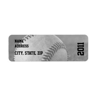 Baseball Graduation Return Address Label