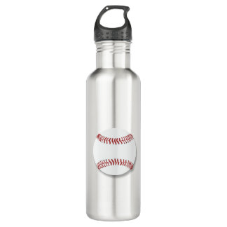 Baseball Graphic Stainless Steel Water Bottle