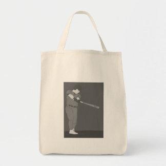 Baseball Gray Tote Bag