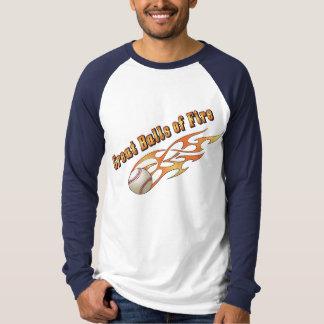 Baseball Great Balls of Fire T-Shirt