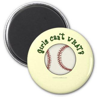 Baseball-Green 2 Inch Round Magnet