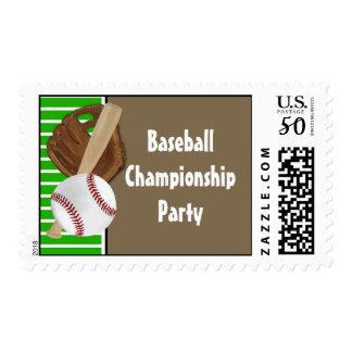 Baseball Green/Brown Postage