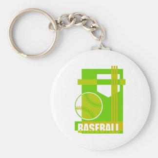 Baseball  green keychain