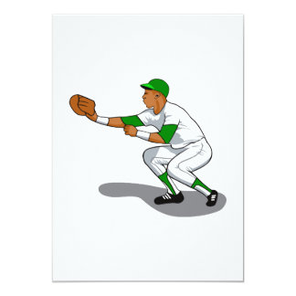 Baseball green player card