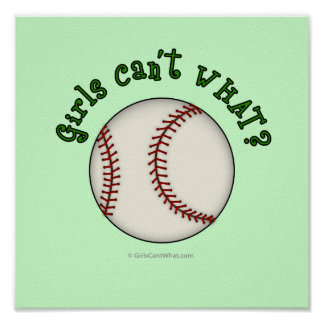 Baseball-Green Poster