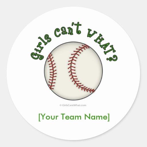 Baseball-Green Sticker