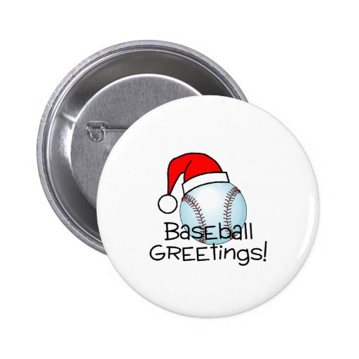 Baseball Greetings Pins