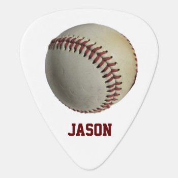 Baseball Guitar Pick by Lilleaf at Zazzle