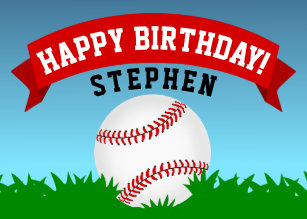 Baseball Birthday Cards Zazzle