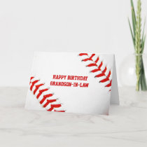 Baseball Happy Birthday Grandson-In-Law Card