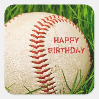 Baseball Happy Birthday Stickers