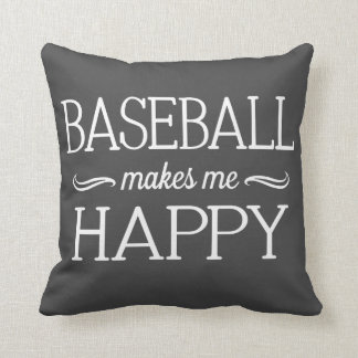 Baseball Happy Pillow - Assorted Styles & Colors