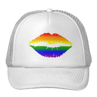 Baseball Hat With Rainbow Lips