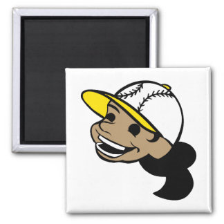 Baseball Head Girl Magnet
