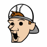 Baseball Head Man Acrylic Cut Outs