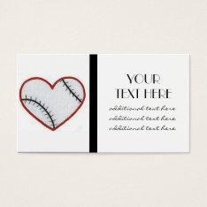 Baseball Heart Business Card at Zazzle
