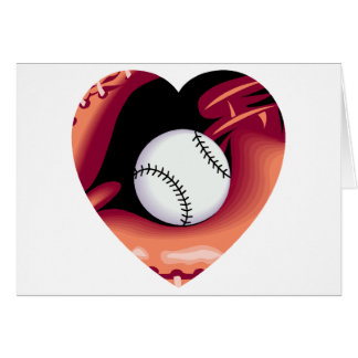Baseball Heart Card