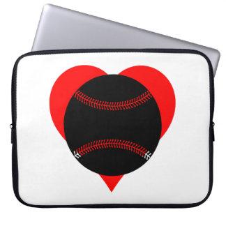 Baseball Heart Computer Sleeves
