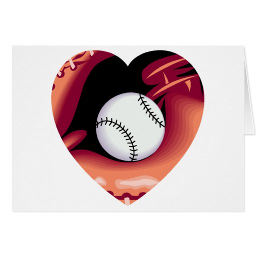 Baseball Heart Greeting Card