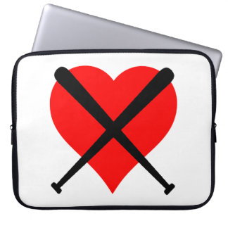 Baseball Heart Laptop Computer Sleeve