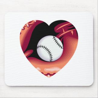 Baseball Heart Mouse Pad