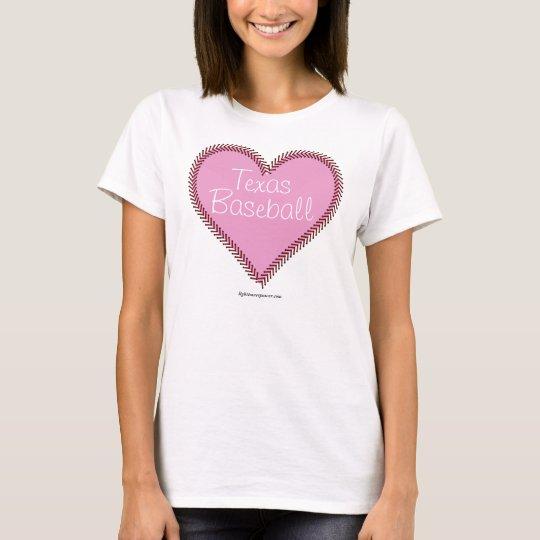 Baseball Heart - Pink T-Shirt