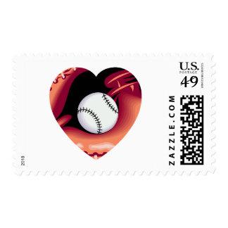 Baseball Heart Postage