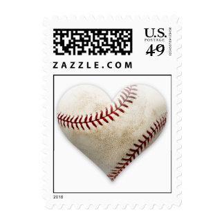 Baseball Heart Postage Stamp