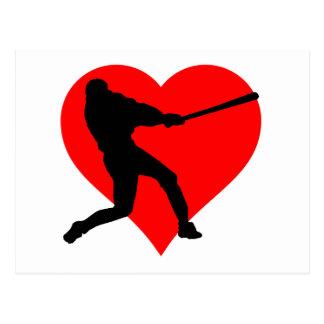 Baseball Heart Postcard