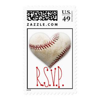 Baseball Heart RSVP Stamp