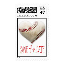 Baseball Heart Save the Date Postage