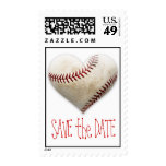 Baseball Heart Save the Date Postage Stamps