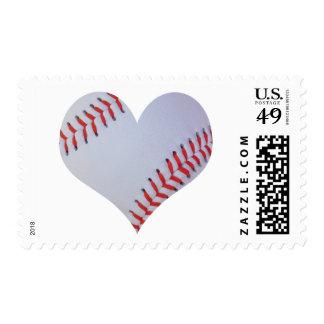 Baseball heart stamp