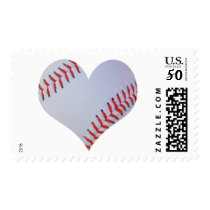 Baseball heart stamp
