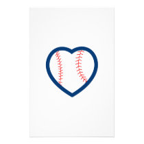 BASEBALL HEART STATIONERY