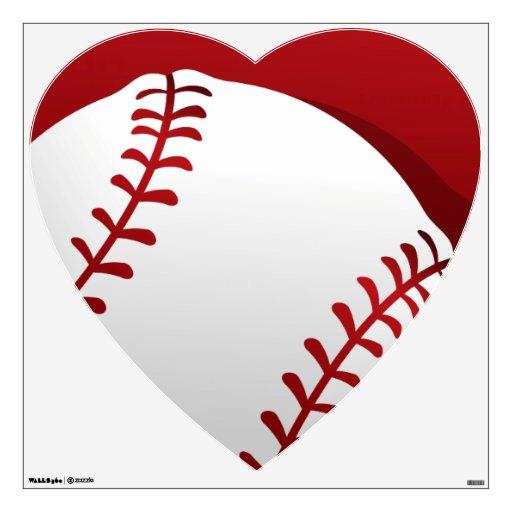 Baseball Heart Wall Decal